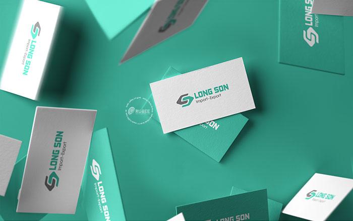 Phối cảnh thiết kế logo xuất nhập khẩu Long Sơn