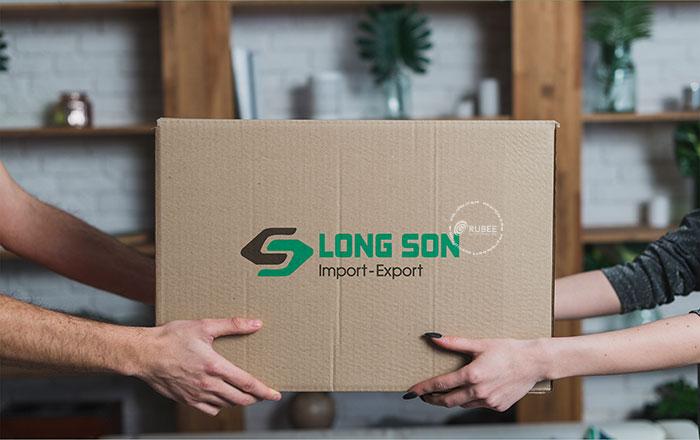 Thiết kế logo lĩnh vực xuất nhập khẩu Long Sơn