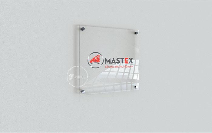 Thiết kế logo công ty dầu nhớt Mastex