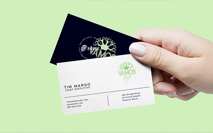 Thiết kế logo coffee Vamos