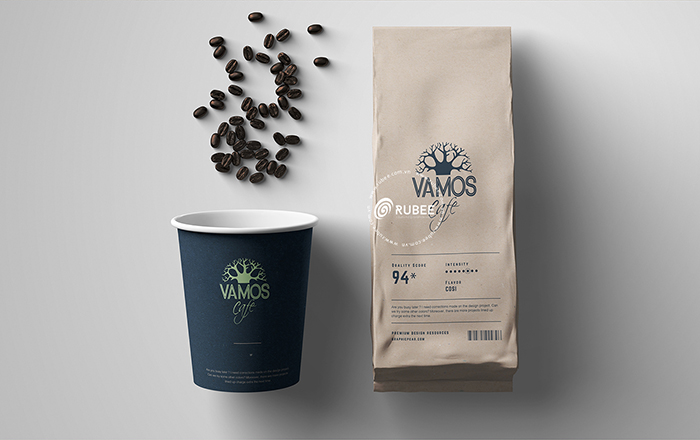 Thiết kế logo thương hiệu cà phê Vamos